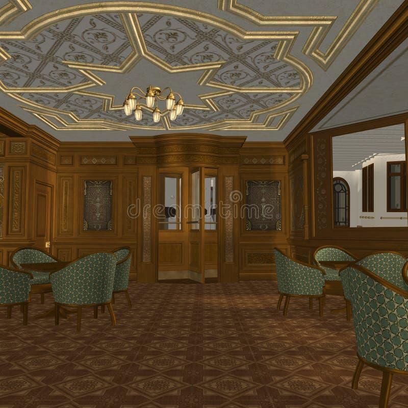 statku luksusowy stary izbowy dymienie ilustracja wektor