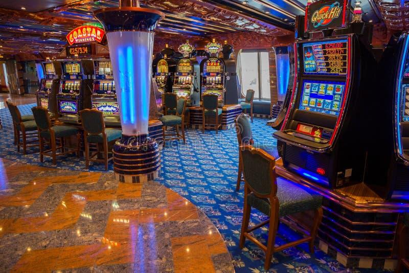 Statku wycieczkowego kasyno fotografia stock