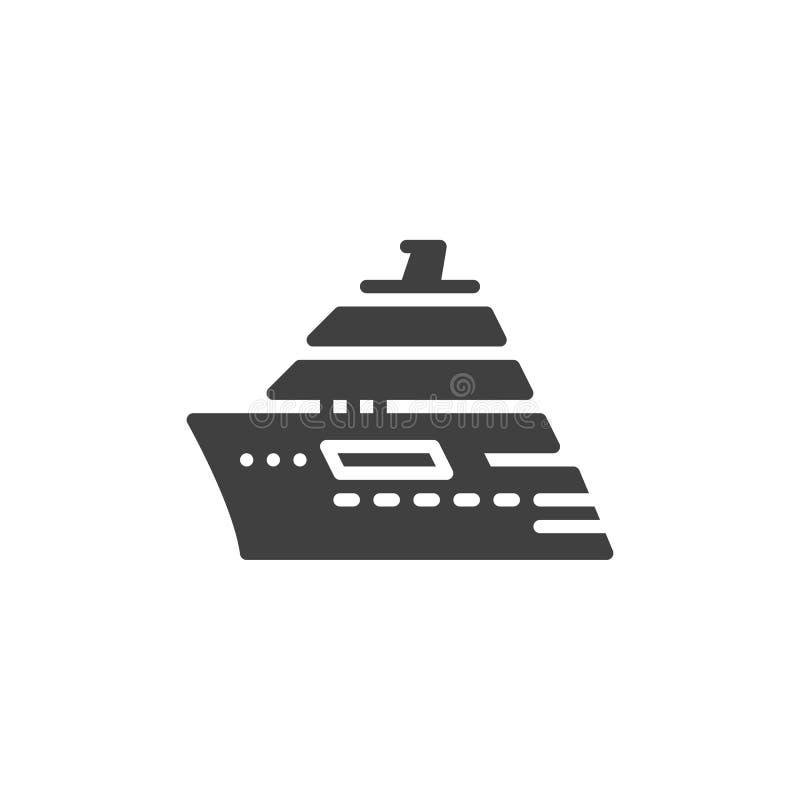 Statku Wycieczkowego wektoru ikona ilustracja wektor