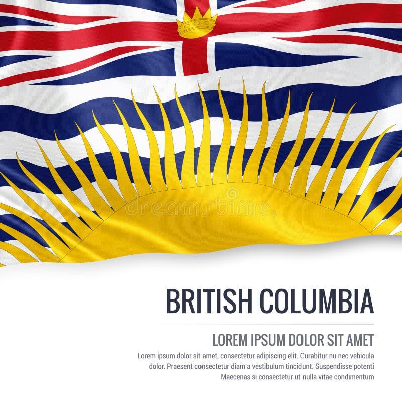 Statlig British Columbia för kanadensare flagga vektor illustrationer