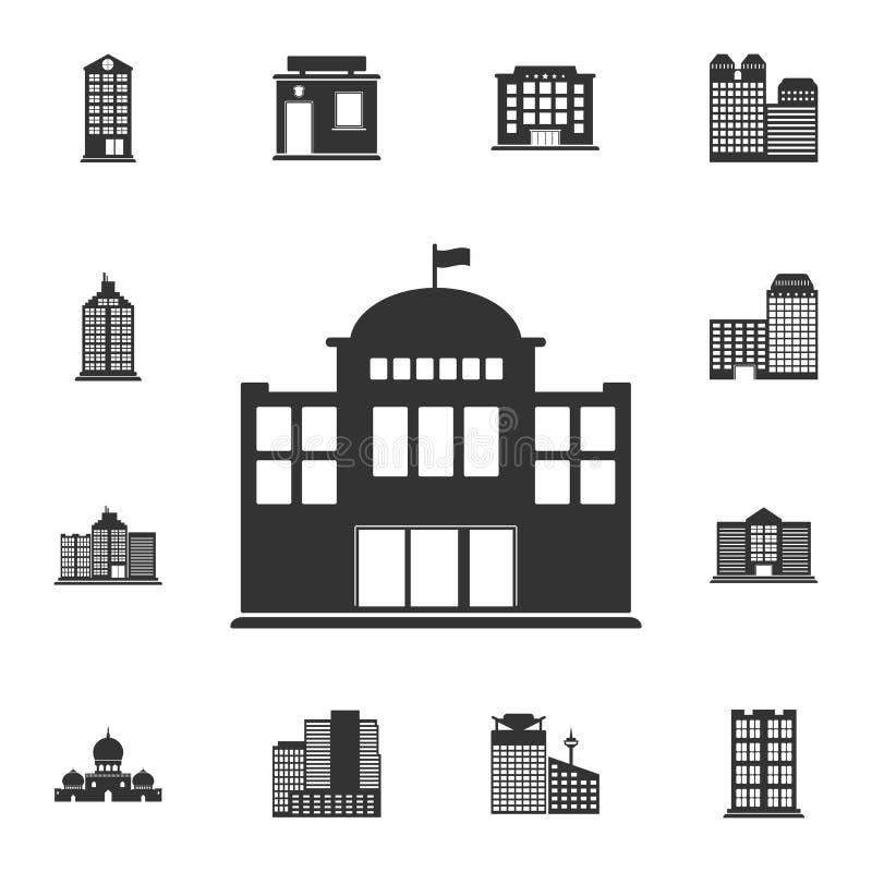 statlig byggnadssymbol Enkel beståndsdelillustration Statlig byggnadssymboldesign från byggnadssamlingsuppsättning Kan användas f vektor illustrationer