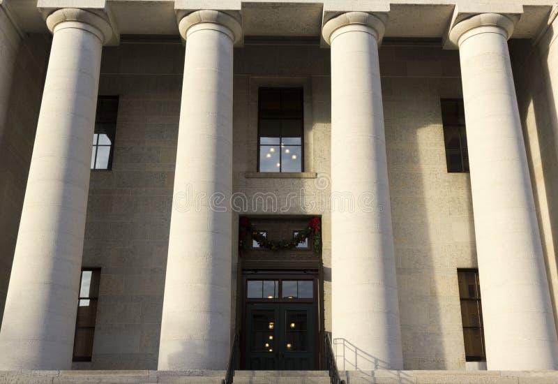 Statlig Capitol i Columbus OH royaltyfria bilder