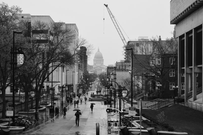 Statlig Kapitolium Madison, Wisconsin arkivfoton