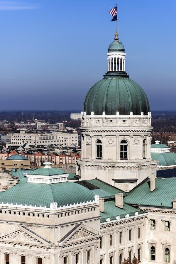 Statlig Kapitoliumbyggnad - Indianapolis, Indiana royaltyfri foto