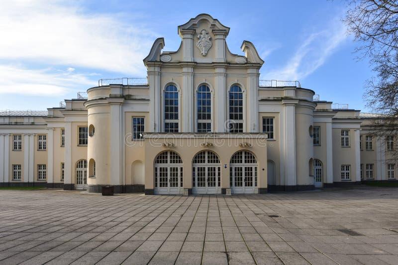 Statlig musikalisk teater Kaunas Litauen royaltyfri fotografi