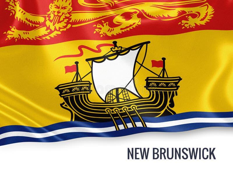 Statlig New Brunswick för kanadensare flagga royaltyfri illustrationer