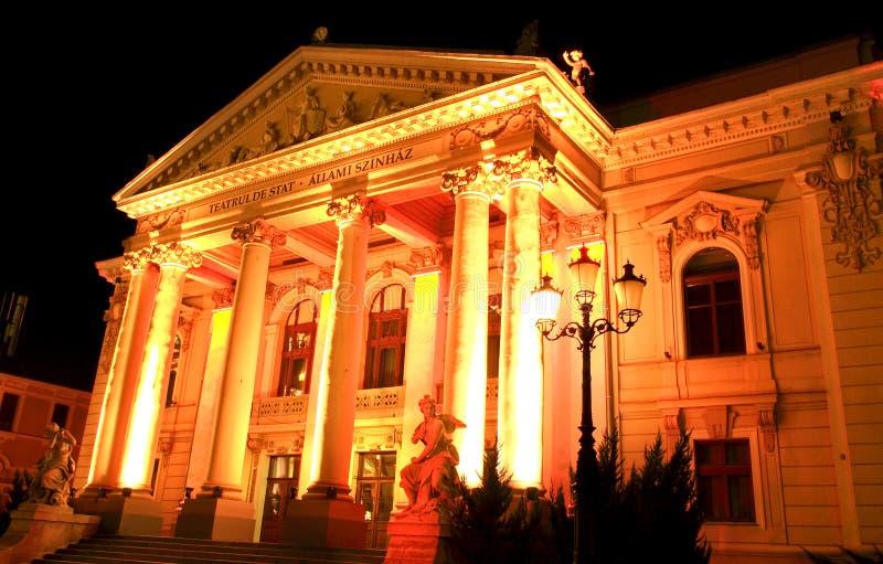 Statlig teater av Oradea Rumänien royaltyfria foton