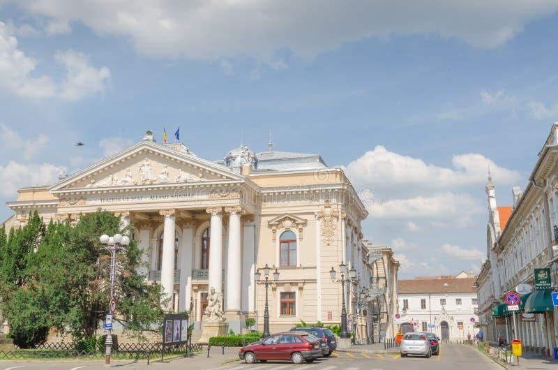 Statlig teater Oradea arkivfoton