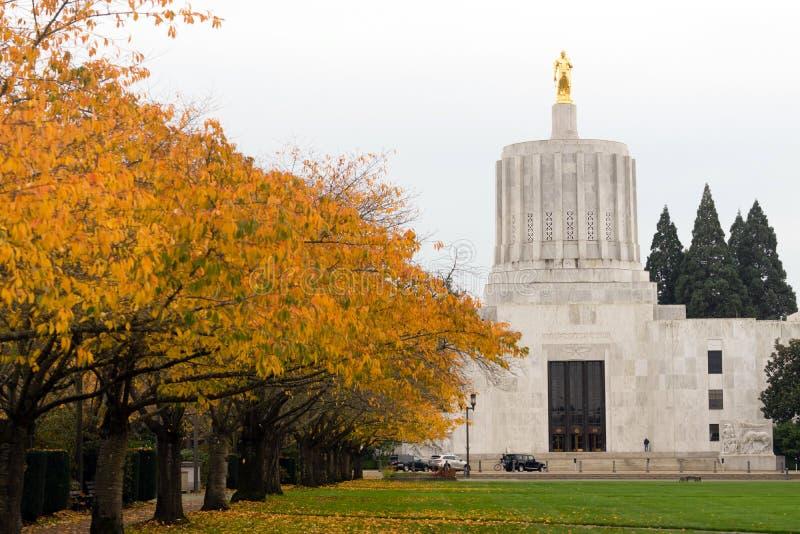 Statliga Captial i stadens centrum Salem Oregon Government Capital Building royaltyfri bild