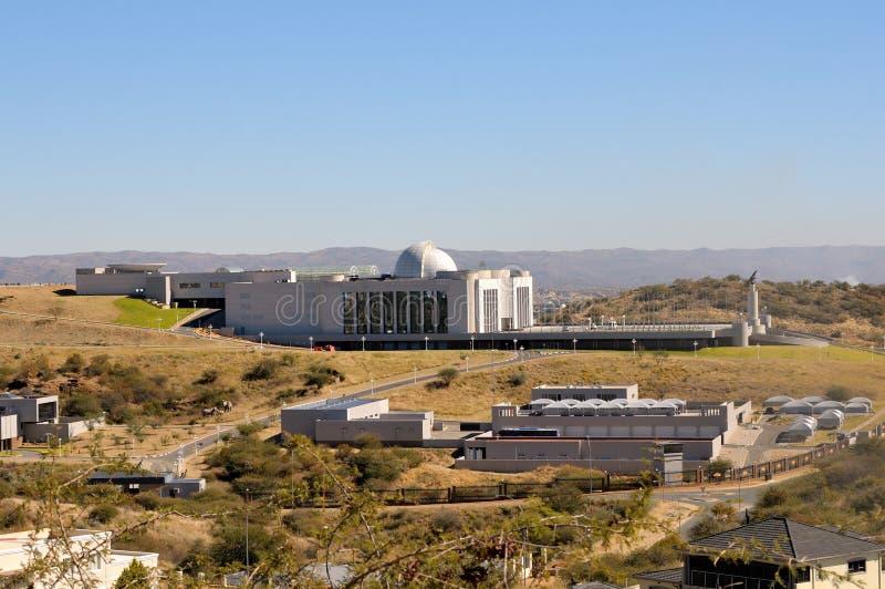 Statligt hus i Windhoek royaltyfri foto