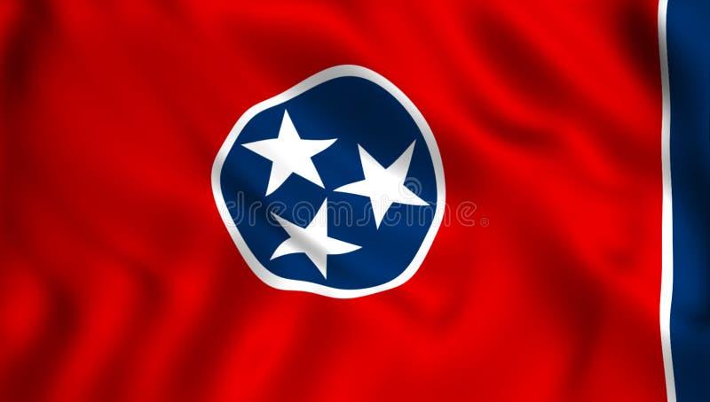 Statligt symbol för Tennessee flaggaUSA stock illustrationer