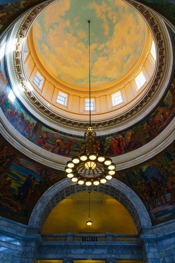 Stato Campidoglio dell'Utah rotunda fotografie stock