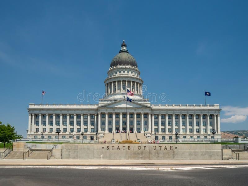Stato del complesso di Utah Capitol Hill a Salt Lake City, la corte rotunda esteriore storica dell'interno, della casa, del senat fotografie stock libere da diritti