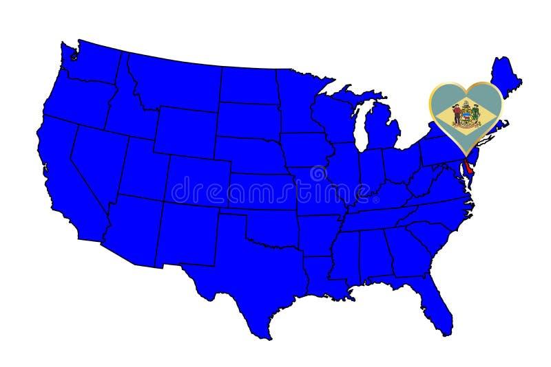 Stato del Delaware illustrazione vettoriale