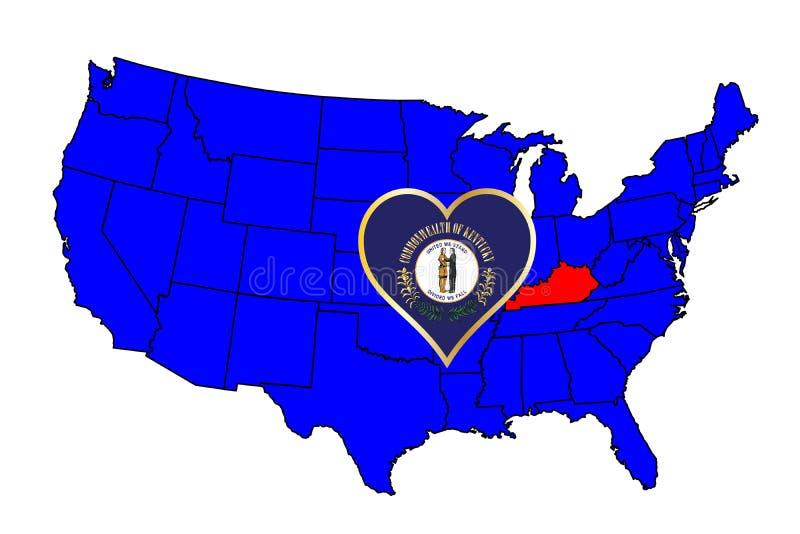 Stato del Kentucky illustrazione vettoriale
