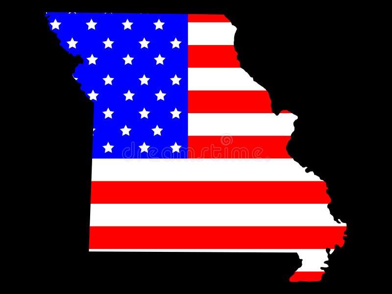 Stato del Missouri illustrazione di stock
