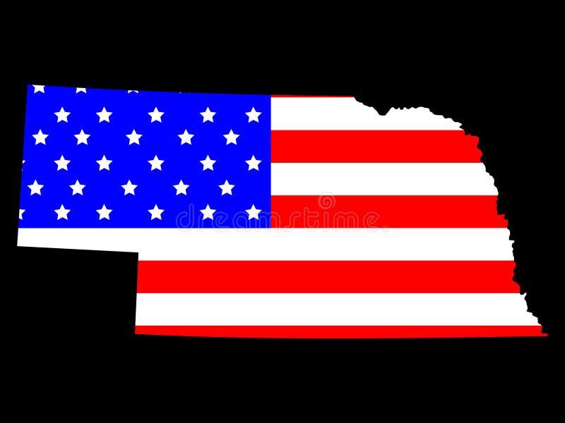 Stato del Nebraska illustrazione vettoriale