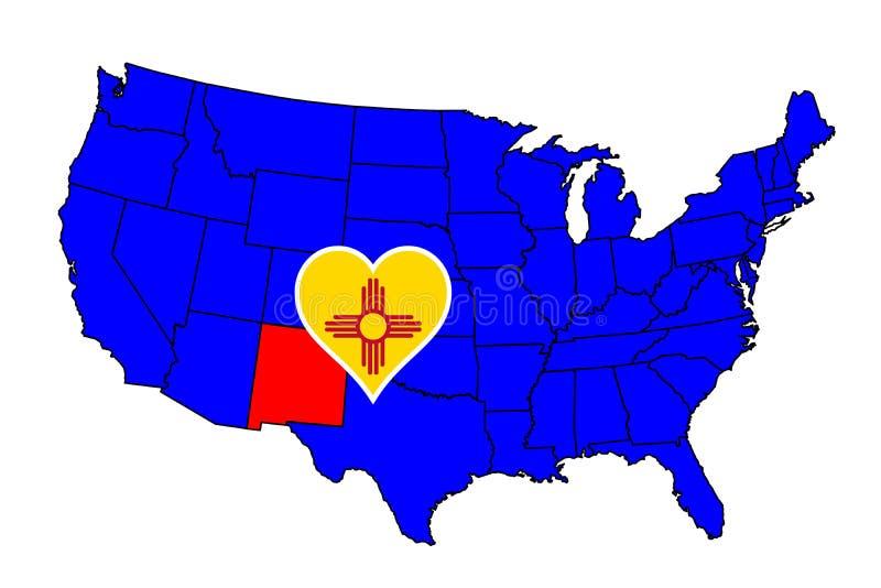 Stato del New Mexico royalty illustrazione gratis