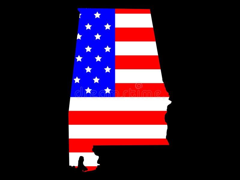 Stato dell'Alabama royalty illustrazione gratis