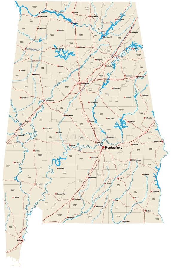 Stato dell'Alabama illustrazione di stock