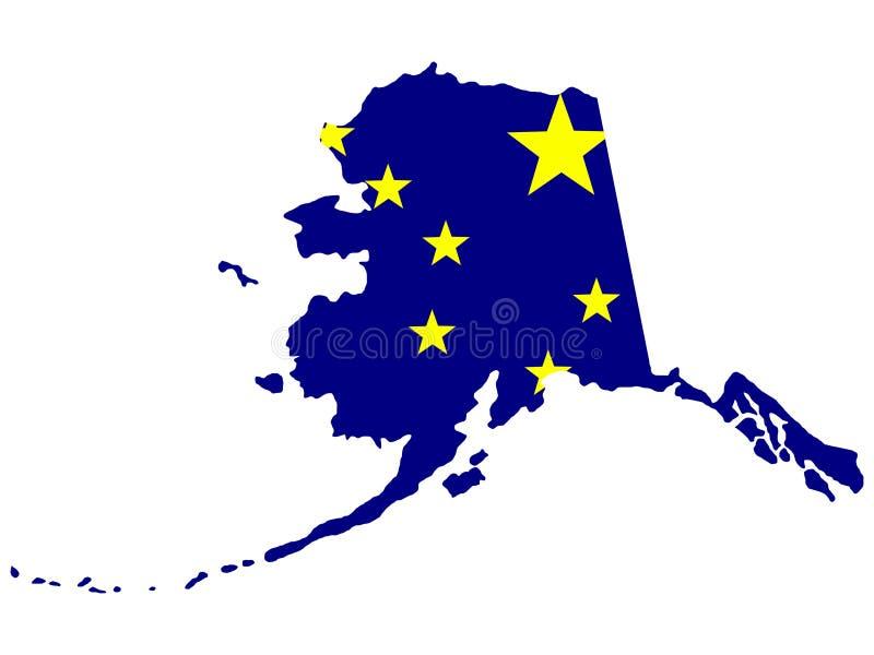 Stato dell'Alaska illustrazione vettoriale