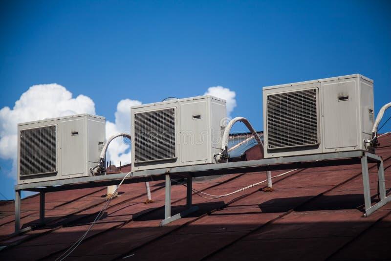 Stato dell'aria del compressore immagine stock