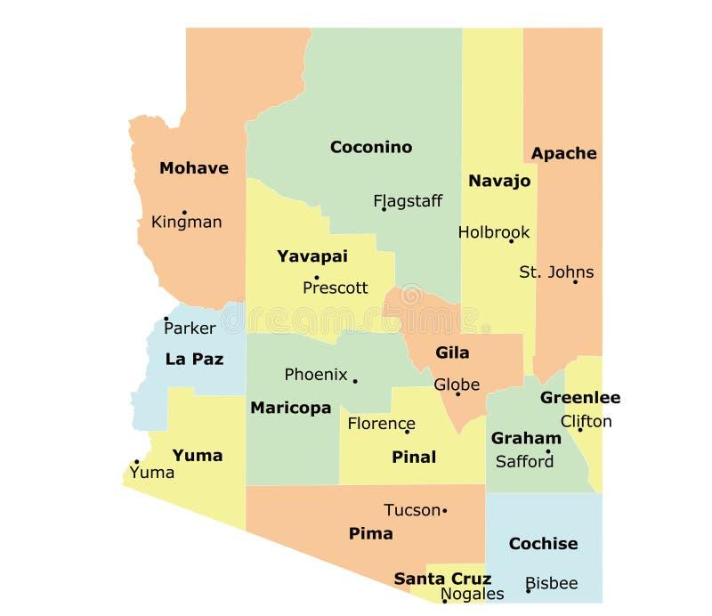 Stato dell'Arizona illustrazione di stock