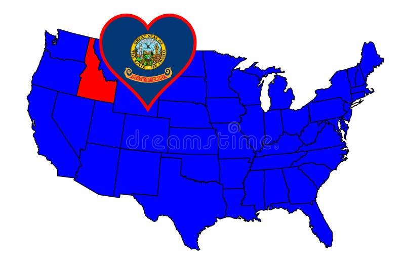 Stato dell'Idaho illustrazione vettoriale