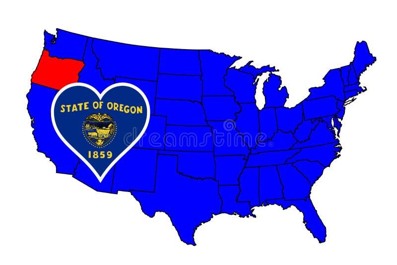 Stato dell'Oregon illustrazione di stock