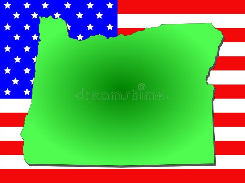 Stato dell'Oregon illustrazione vettoriale