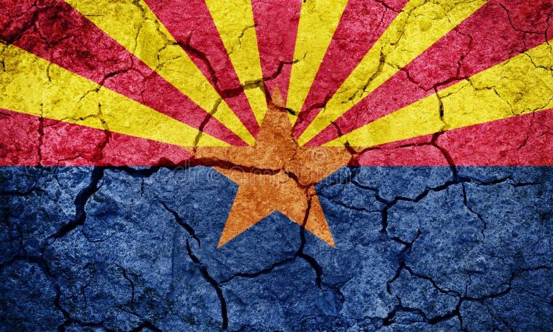 Stato della bandiera di Arizona fotografia stock libera da diritti