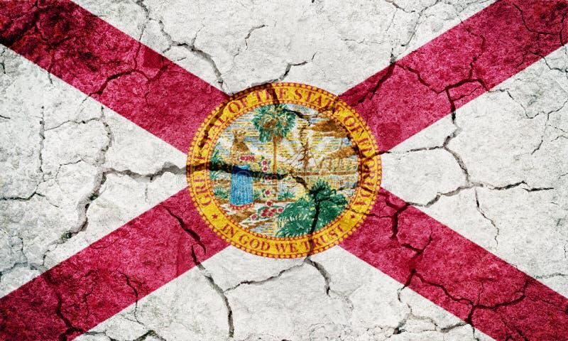 Stato della bandiera di Florida illustrazione di stock