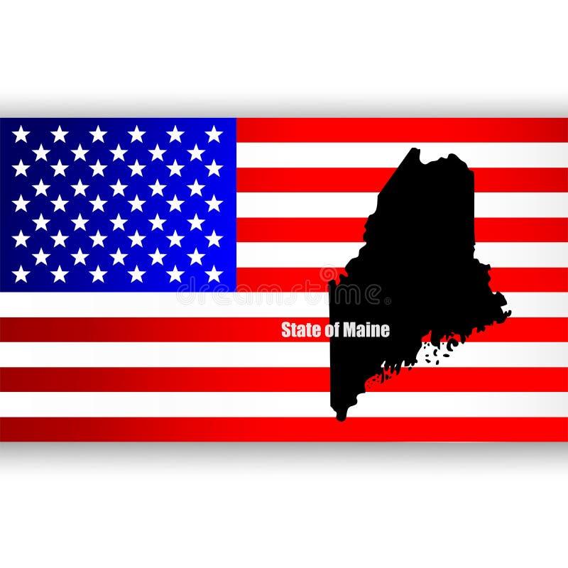 Stato della Maine illustrazione di stock