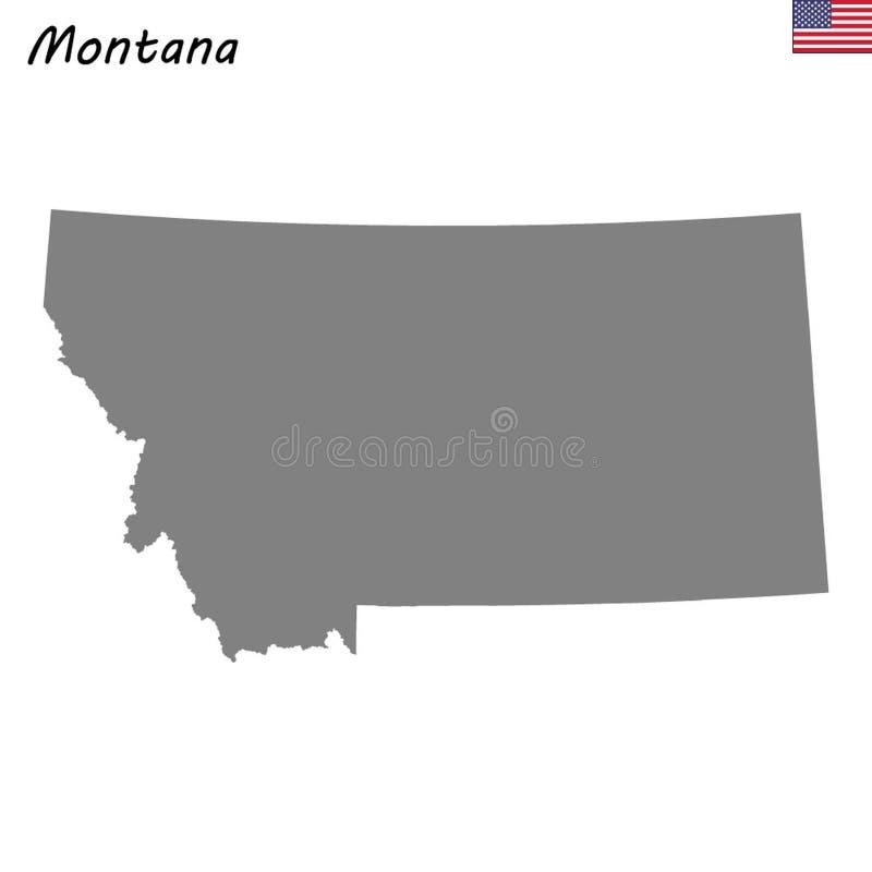 Stato della mappa di alta qualità degli Stati Uniti illustrazione di stock