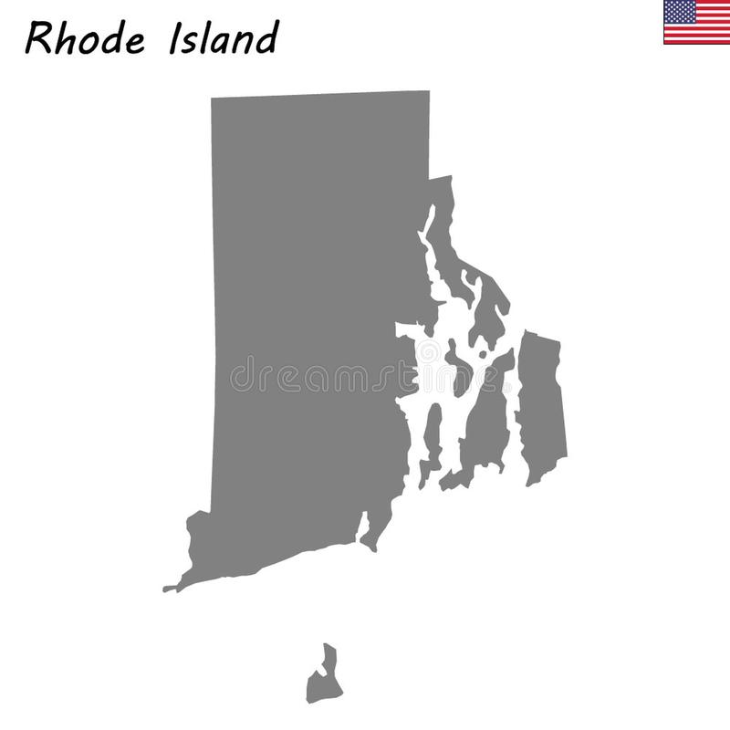 Stato della mappa di alta qualità degli Stati Uniti illustrazione vettoriale