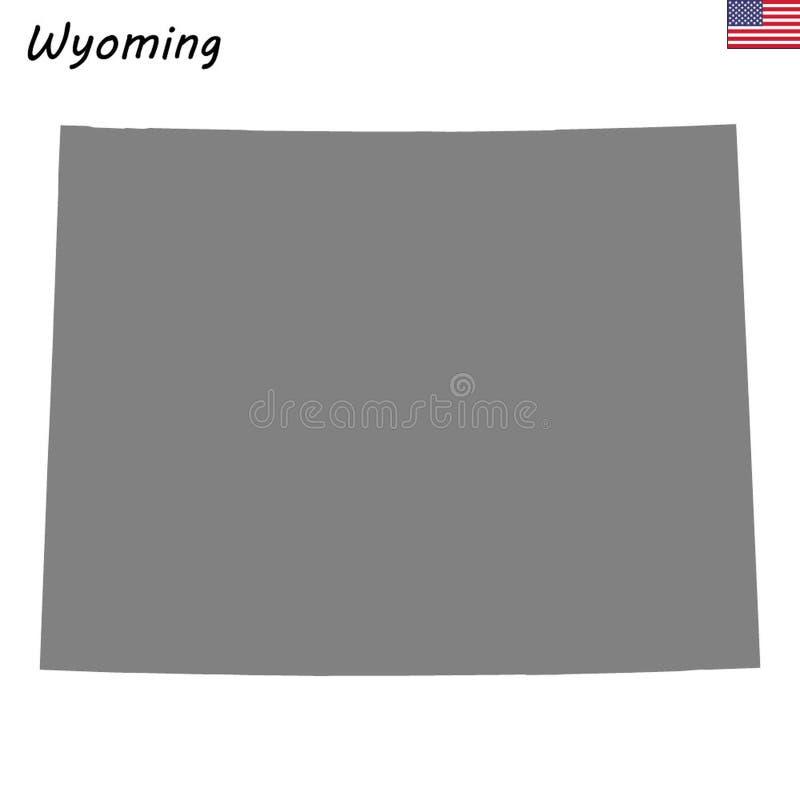 Stato della mappa di alta qualità degli Stati Uniti royalty illustrazione gratis