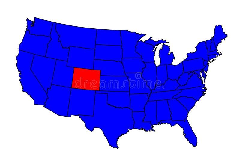 Stato della posizione di colorado illustrazione vettoriale