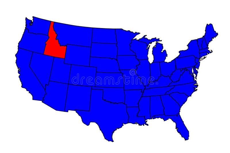 Stato della posizione di Idaho royalty illustrazione gratis
