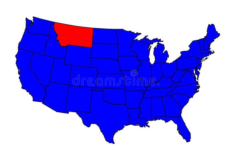 Stato di Montana Location royalty illustrazione gratis