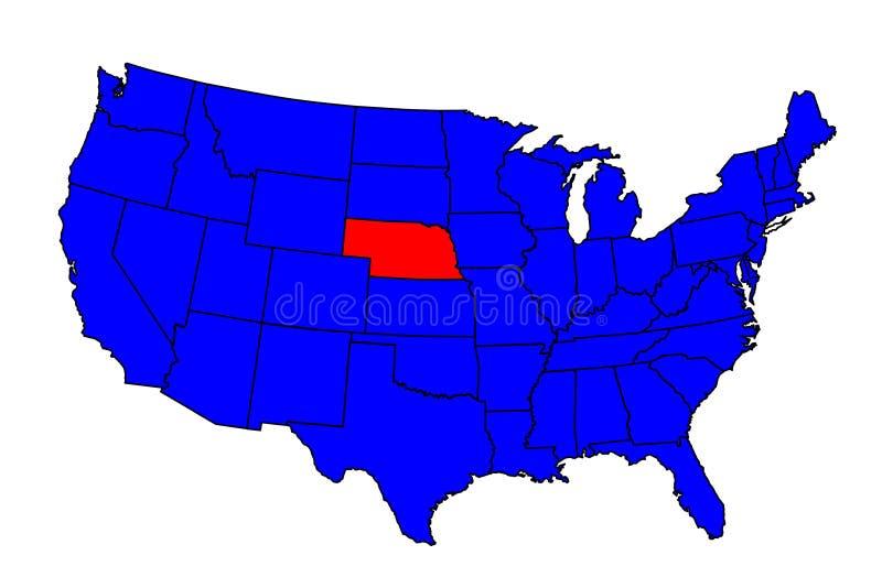 Stato di posizione del Nebraska illustrazione vettoriale
