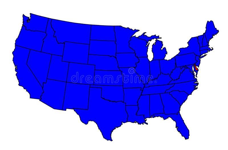 Stato di posizione di Delaware illustrazione vettoriale