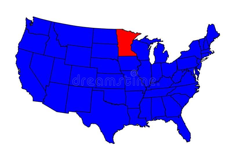 Stato di posizione di Minnesota royalty illustrazione gratis