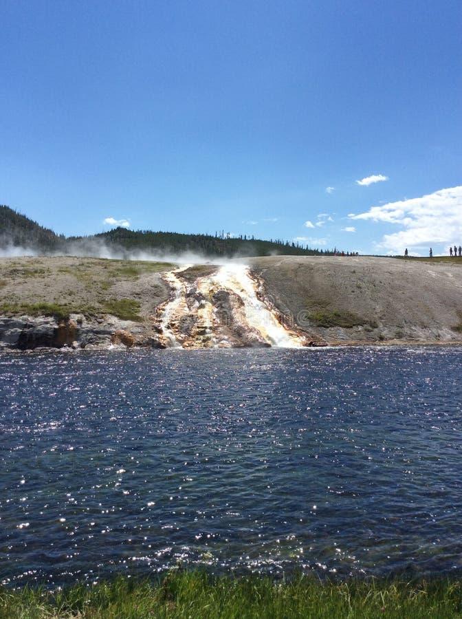 Stato naturale di Montana's al parco nazionale di Yellowstone fotografia stock libera da diritti