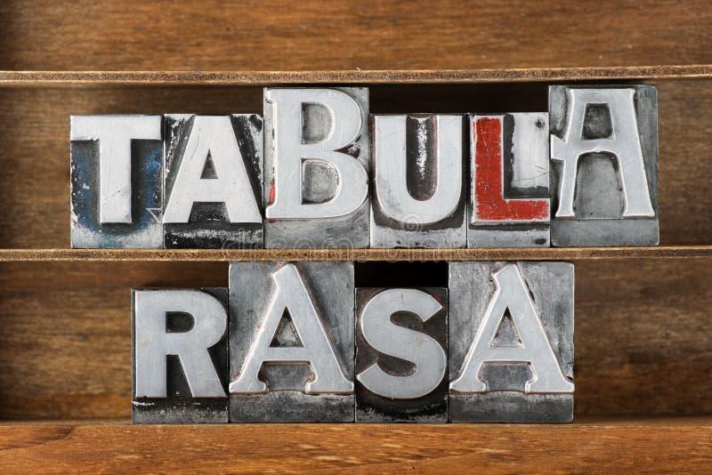 Stato rasa-in bianco di Tabula fotografia stock libera da diritti
