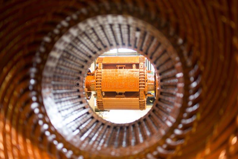 Stator av en stor elektrisk motor arkivfoto