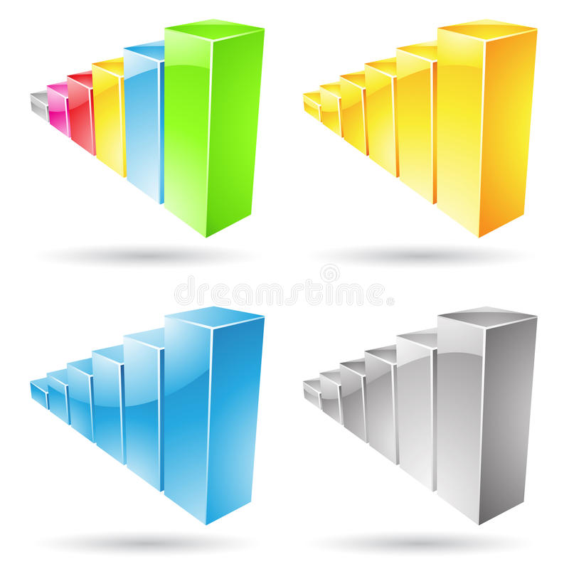 Download Stats Bars Icons stock vector. Illustration of data, graph - 25619541