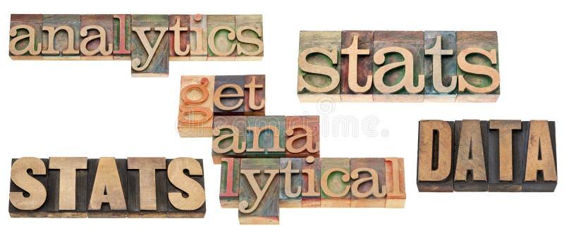 Stats, datos, analytics foto de archivo