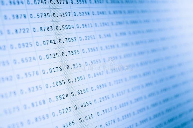 Stats del mercato sullo schermo di computer immagine stock libera da diritti