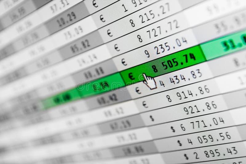 Stats del mercato sullo schermo di computer immagine stock