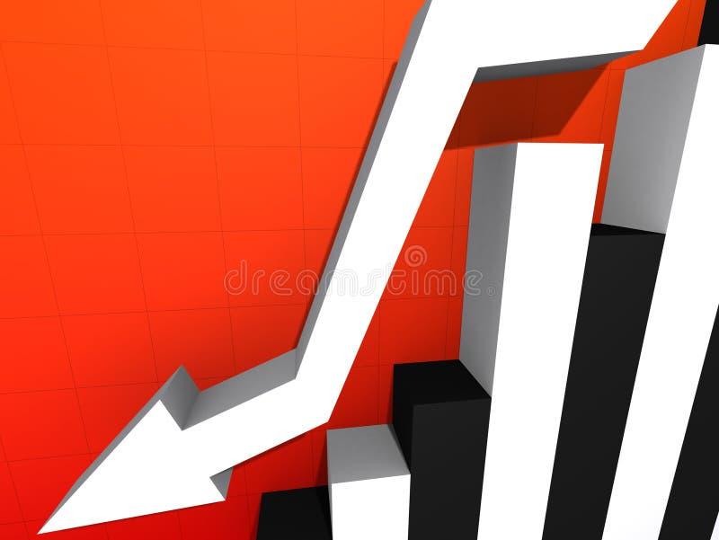 Stats descendente stock de ilustración